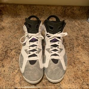 Air Jordan 6 retro gray and white